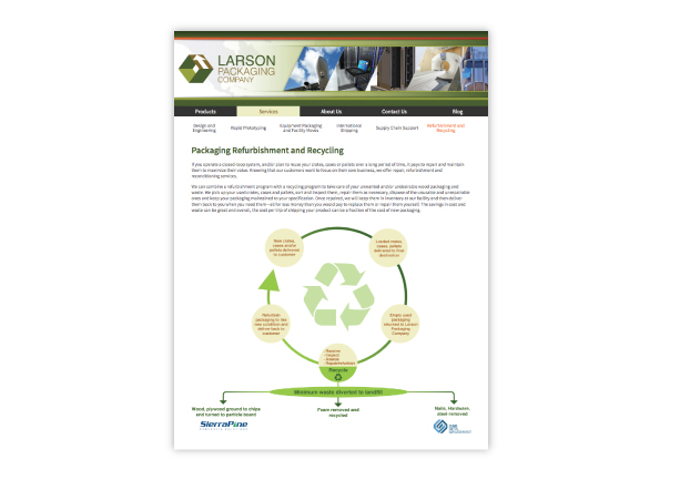 Larson Recycling page