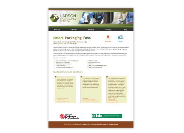 Larson Home page