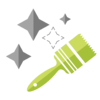 paintbrush-with-starts-icon